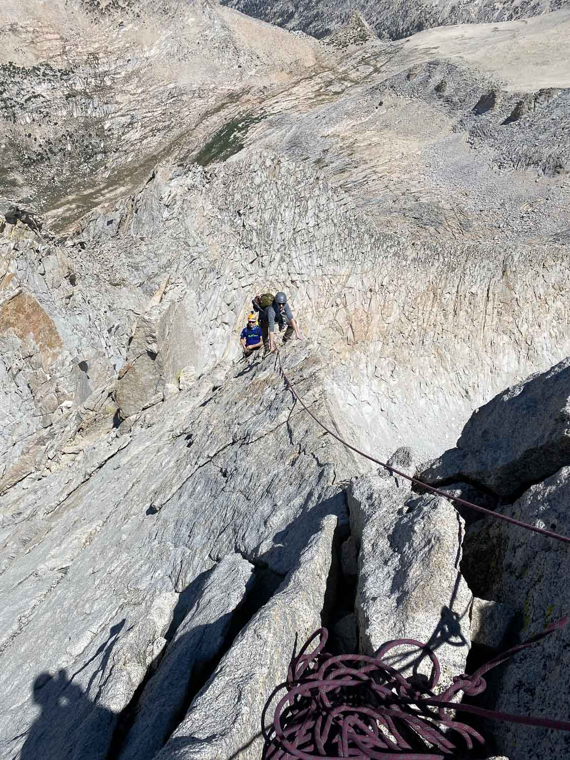 The final pitch on the North Ridge of Mount Conness