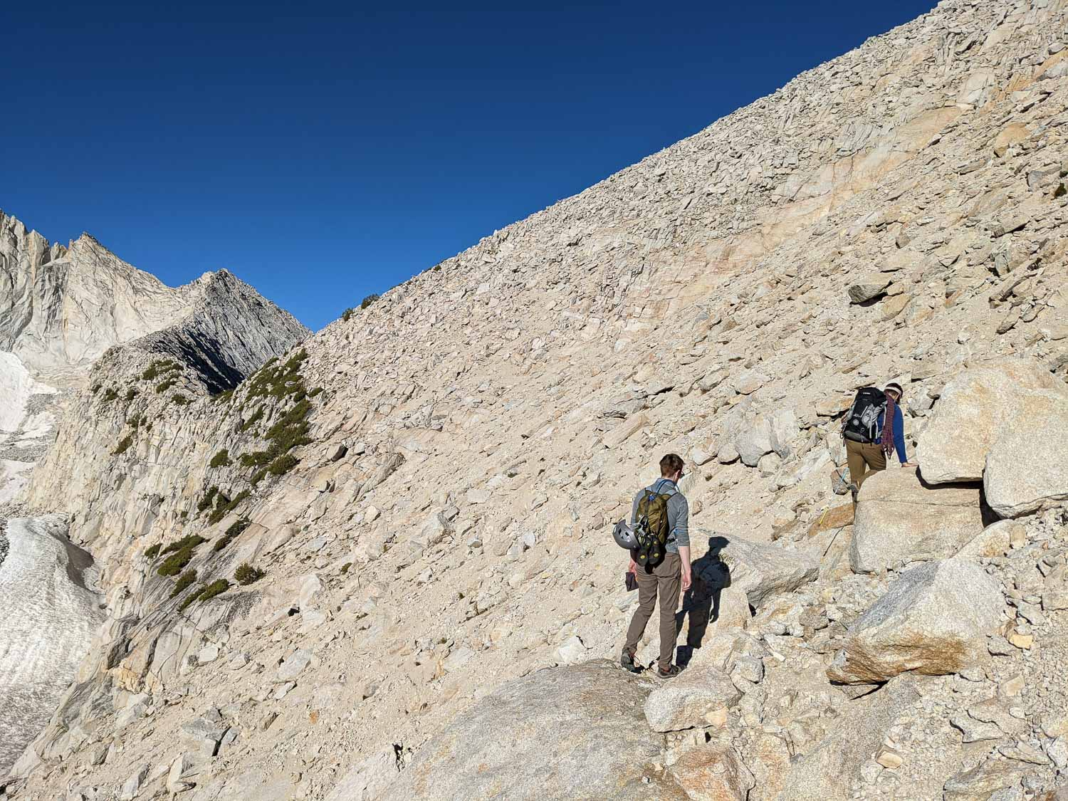 Gaining the North Ridge of Mount Conness