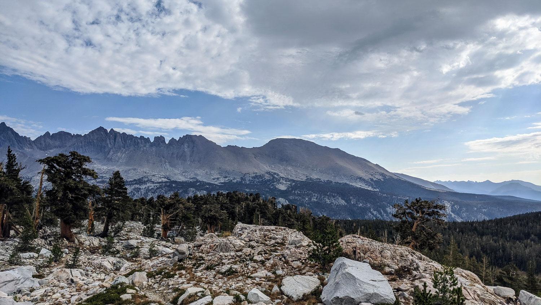 The Kaweah Mountain Range