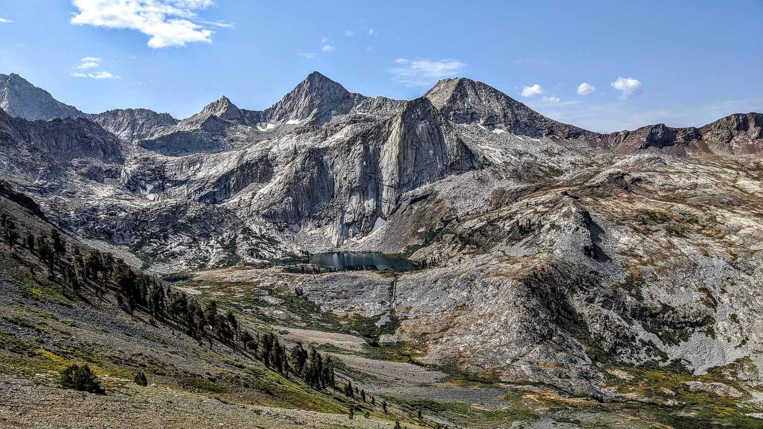 Descending from Black Rock Pass into Mineral King