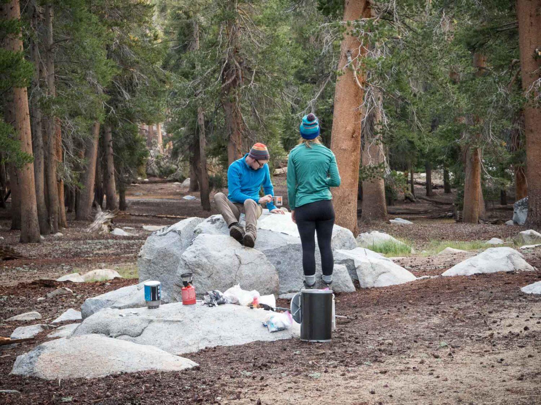 Moraine Lake Camping